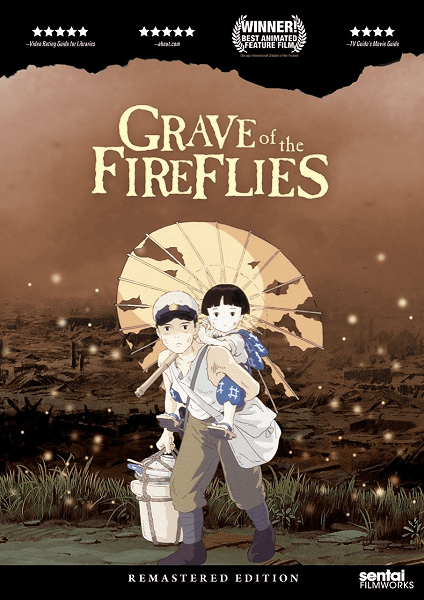 Grave of the Fireflies Blu-ray and DVD